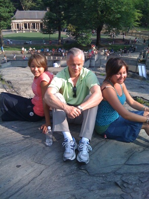 My Brother In Law Bruce With His Two Girls, Grace & Michelle